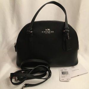 NWT Coach Mini Dome Bag w/ Cross Body Strap - Blk